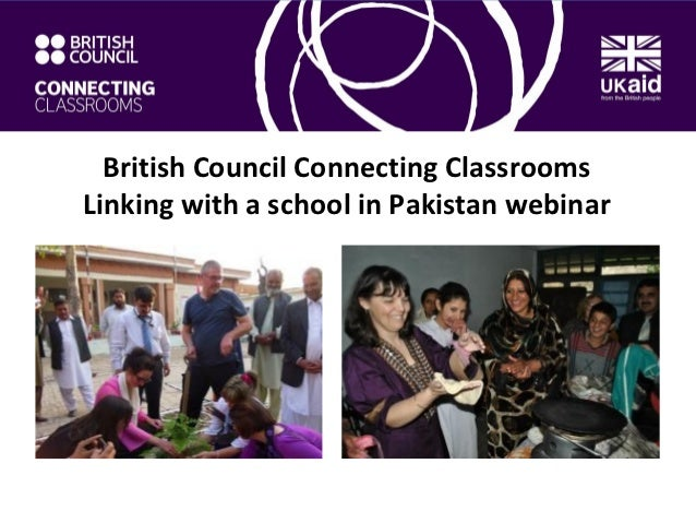 British Council Connecting ClassroomsLinking with a school in Pakistan webinar