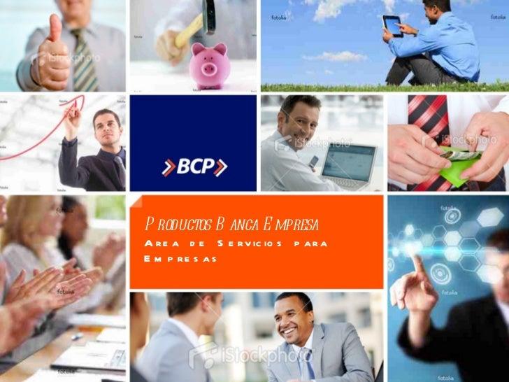 Productos Banca Empresa Area de Servicios para Empresas