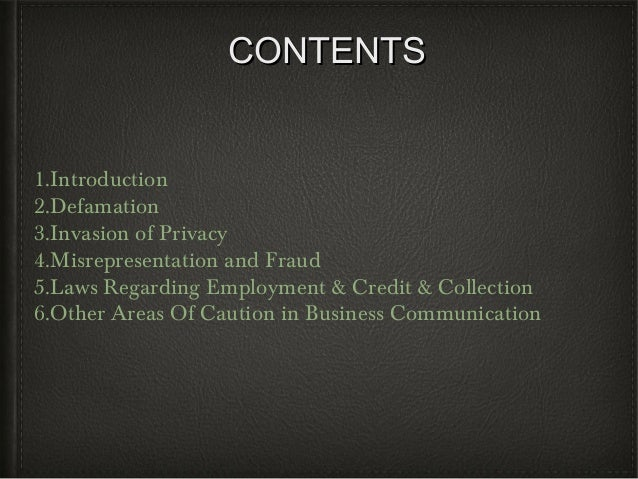 Business communication and legal issues Slide 2