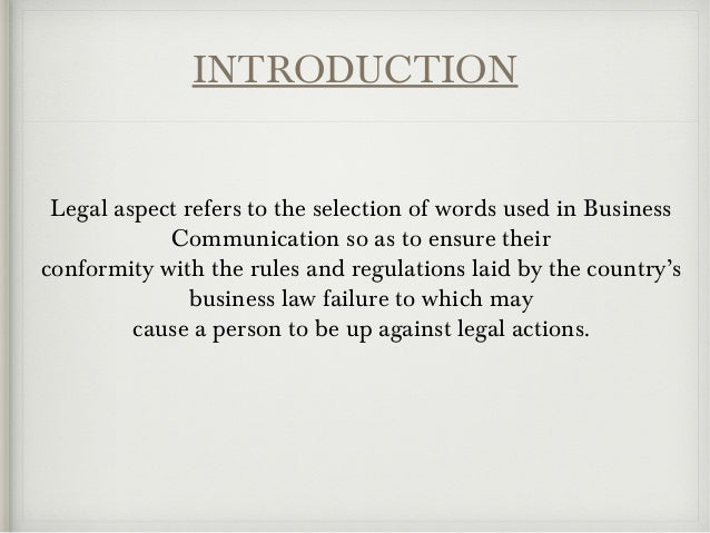 Business communication and legal issues Slide 3