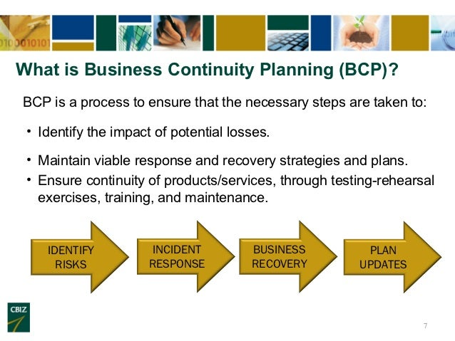 6; 7. What Is Business Continuity Planning ...