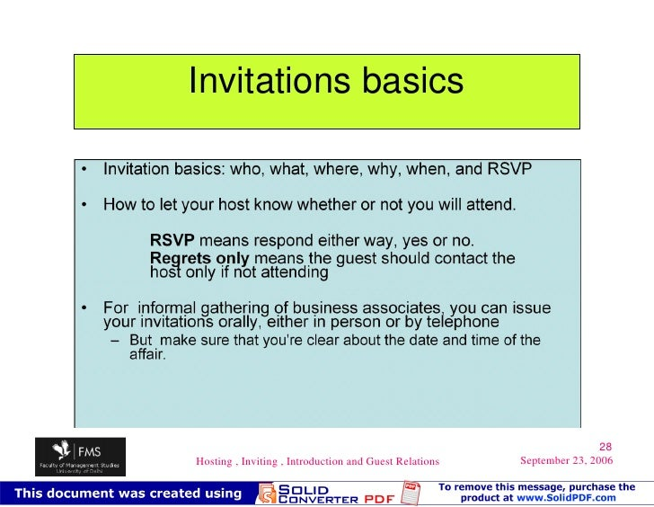 Rsvp introductions