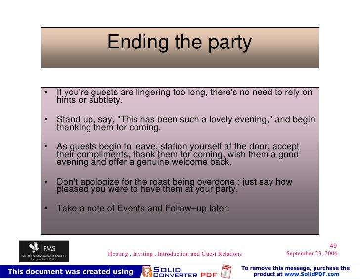 Hosting inviting introduction guest relations ending stopboris Images