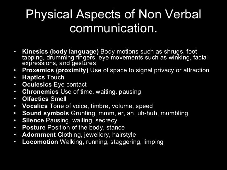 non verbal communication and use of body language expression