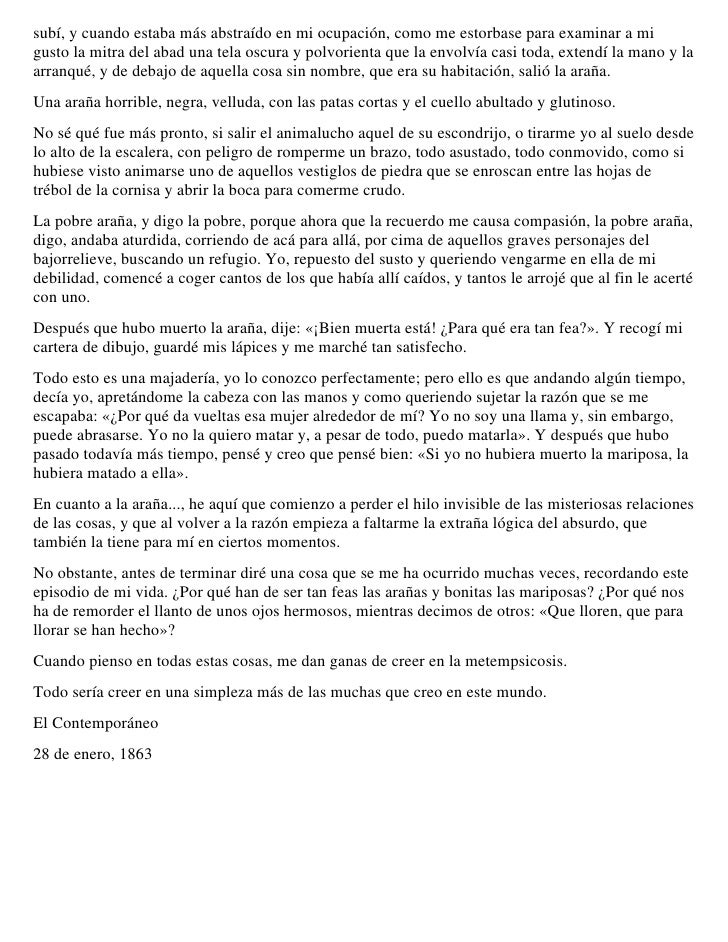 BCquer Historia De Una Mariposa Y Una AraA