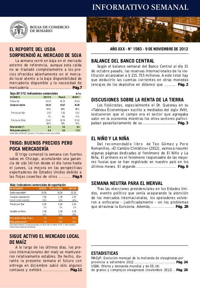 INFORMATIVO SEMANALEL REPORTE DEL USDA                                                                                    ...