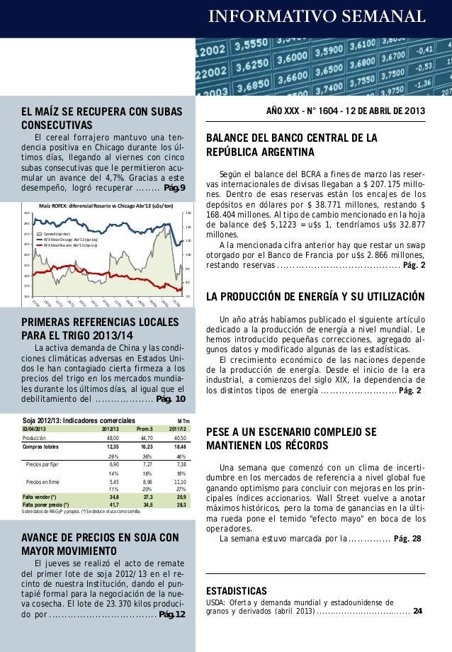 INFORMATIVO SEMANALEL MAÍZ SE RECUPERA CON SUBAS                                                                          ...