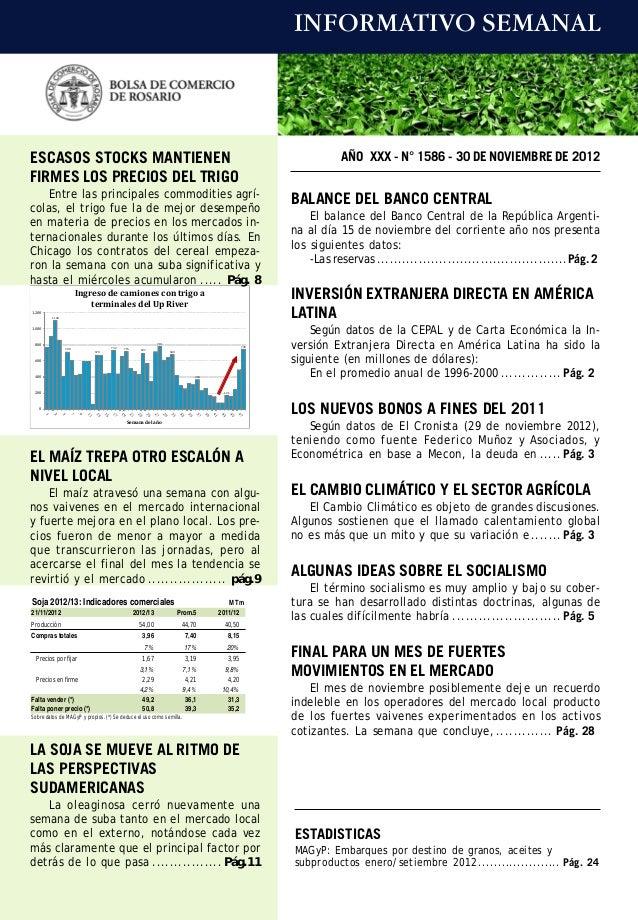INFORMATIVO SEMANALESCASOS STOCKS MANTIENEN                                                                               ...