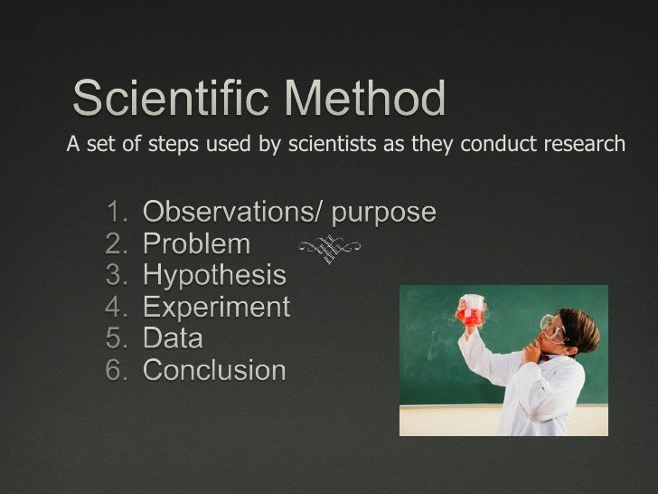 A set of steps used by scientists as they conduct research