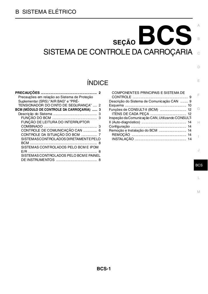 SISTEMA DE CONTROLE DA CARROÇARIAB SISTEMA ELÉTRICO                                                                       ...