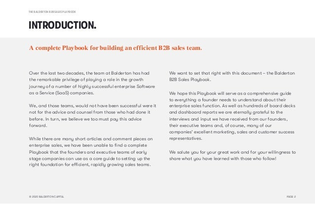 The Balderton B2B Sales Playbook Slide 2