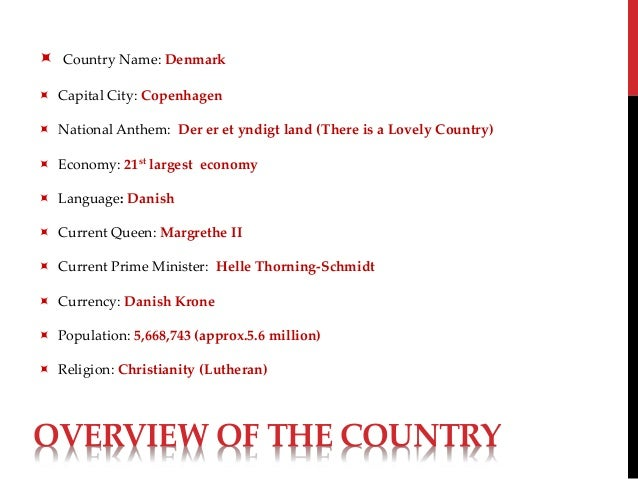 Denmark PPT - Country name and capital city