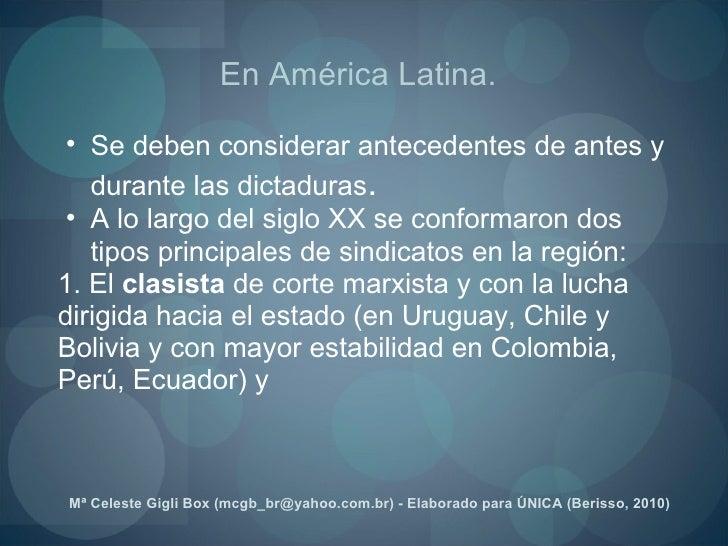<ul><ul><li>Se deben considerar antecedentes de antes y durante las dictaduras .   </li></ul></ul><ul><ul><li>A lo largo d...