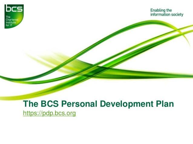 The BCS Personal Development Plan https://pdp.bcs.org
