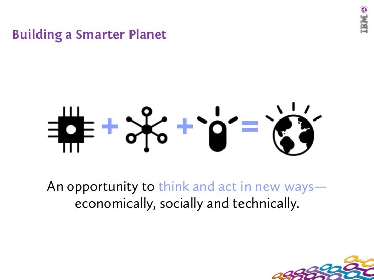 Building a Smarter Planet              +             +      =     An opportunity to think and act in new ways—         eco...