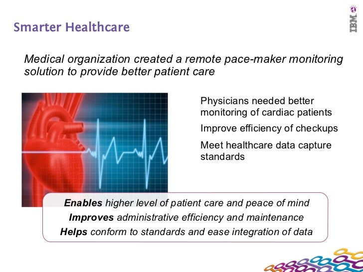 Smarter Healthcare Medical organization created a remote pace-maker monitoring solution to provide better patient care    ...