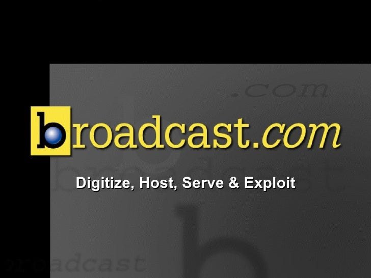 <ul><li>Digitize, Host, Serve & Exploit </li></ul>