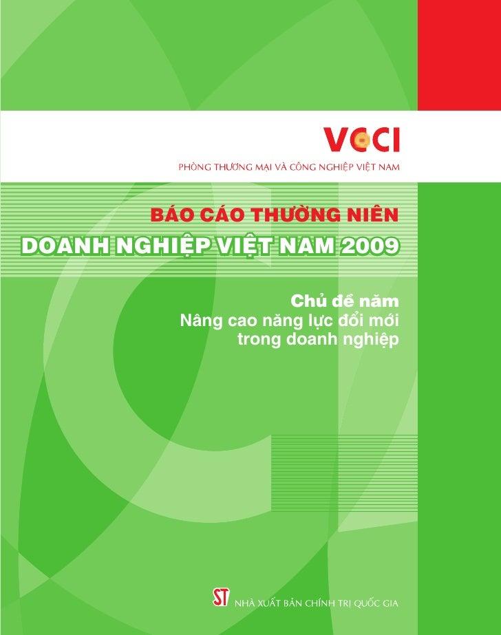 BÁO CÁO THƯỜNG NIÊNDOANH NGHIỆP VIỆT NAM 2009                      Chủ đề năm          Nâng cao năng lực đổi mới          ...