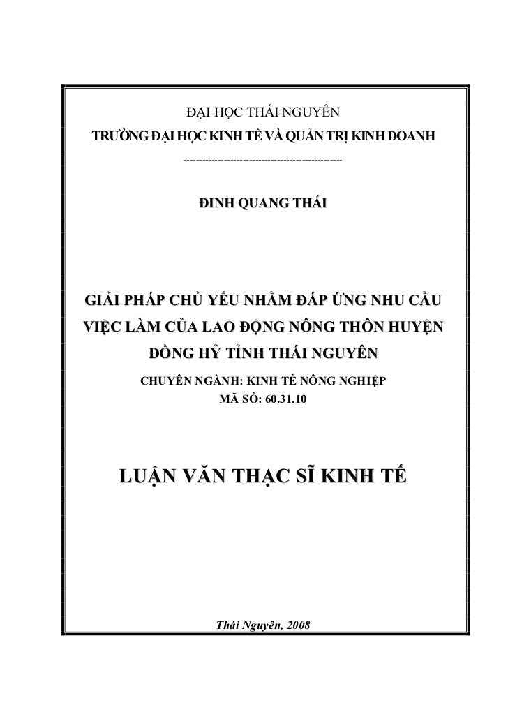 ĐẠI HỌC THÁI NGUYÊNTRƯỜNG ĐẠI HỌC KINH TẾ VÀ QUẢN TRỊ KINH DOANH            ----------------------------------------------...