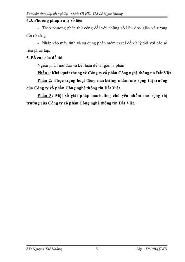 Báo cáo thực tập tốt nghiệp  GVHD: ThS Lê Ngọc Nương 4.3. Phương pháp xử lý số liệu - Theo phương pháp thủ công đối với...