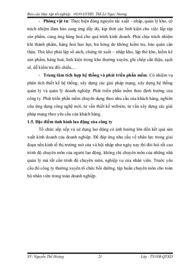 Báo cáo thực tập tốt nghiệp  GVHD: ThS Lê Ngọc Nương - Phòng vật tư: Thực hiện đúng nguyên tắc xuất – nhập, quản lý kho...