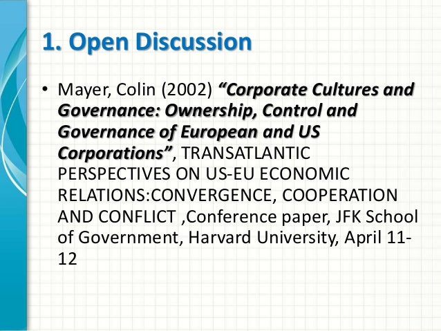 Corporate Governance from an International Perspective: Diversity or Convergence