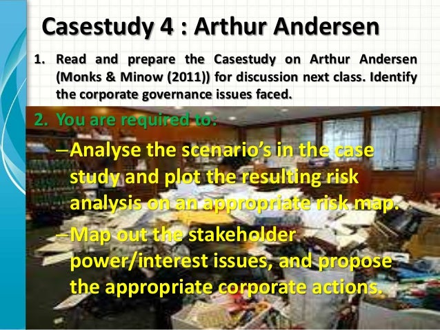 arthur andersen case 1 Arthur andersen case studies in business ethics during the period 1987-94 arthur andersen funded a $5 million joint project with 525  85 mini-cases (about 1 page.