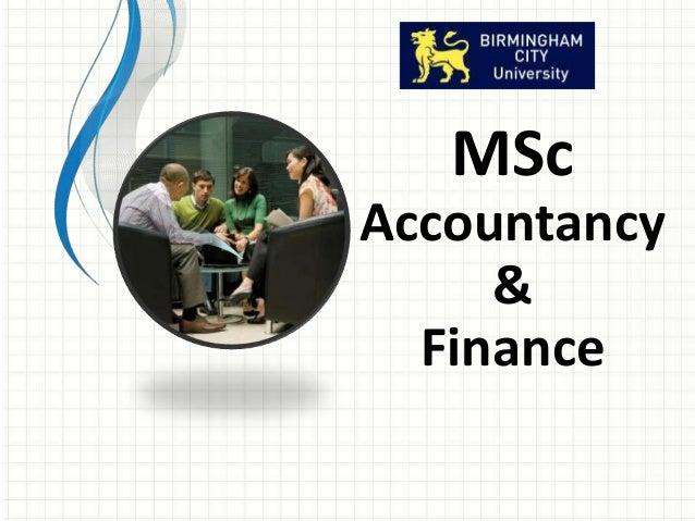 MScAccountancy&Finance