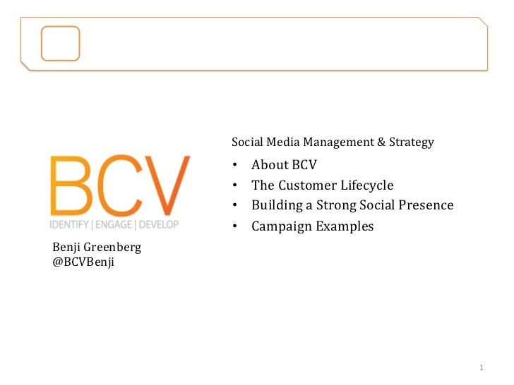 BCV	  Social	  Media	  Management	                                 ...