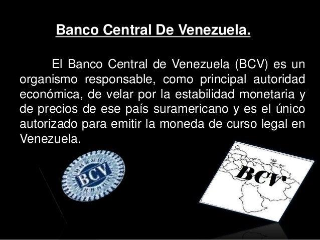 Presentaci n del bcv for Banco banco de venezuela