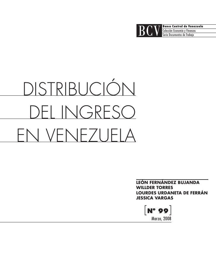 Banco Central de Venezuela                           Colección Economía y Finanzas                           Serie Documen...