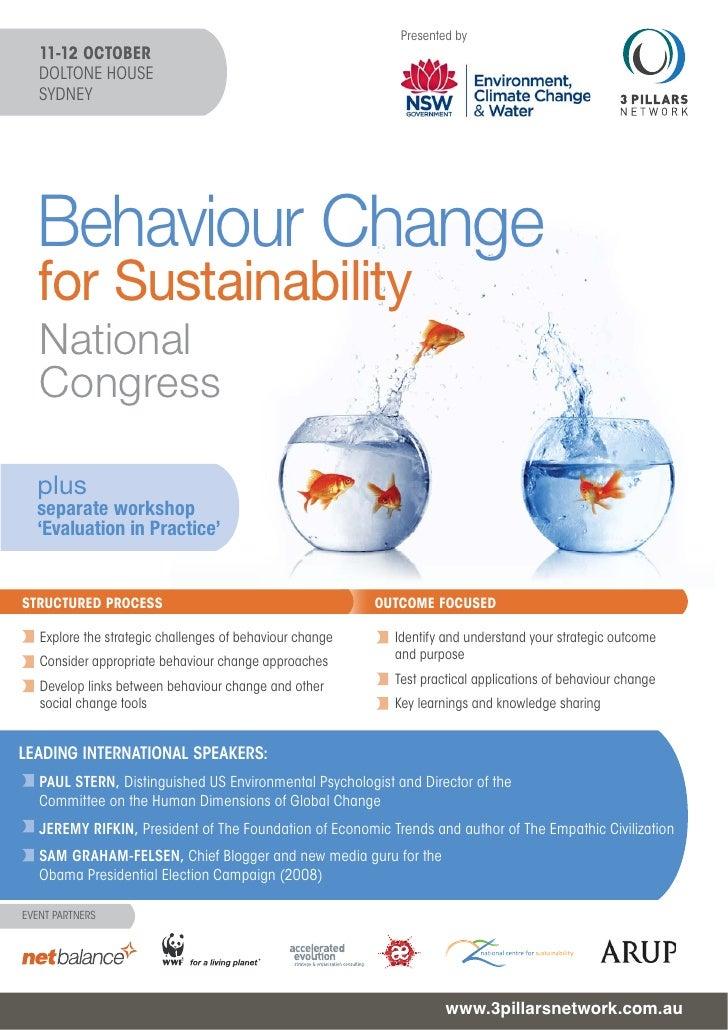 Behaviour Change for Sustainability