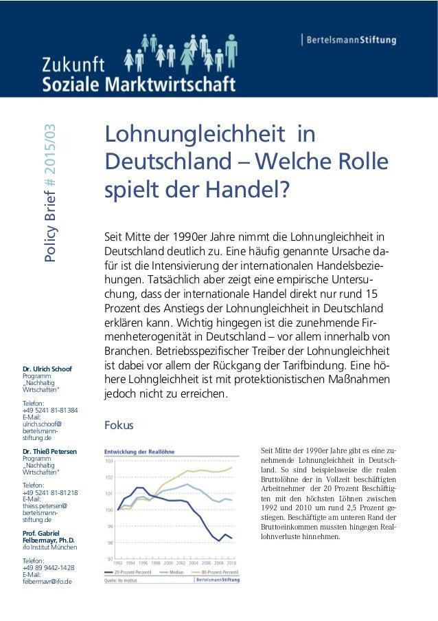 """Dr. Ulrich Schoof Programm """"Nachhaltig Wirtschaften"""" Telefon: +49 5241 81-81384 E-Mail: ulrich.schoof@ bertelsmann- stiftu..."""