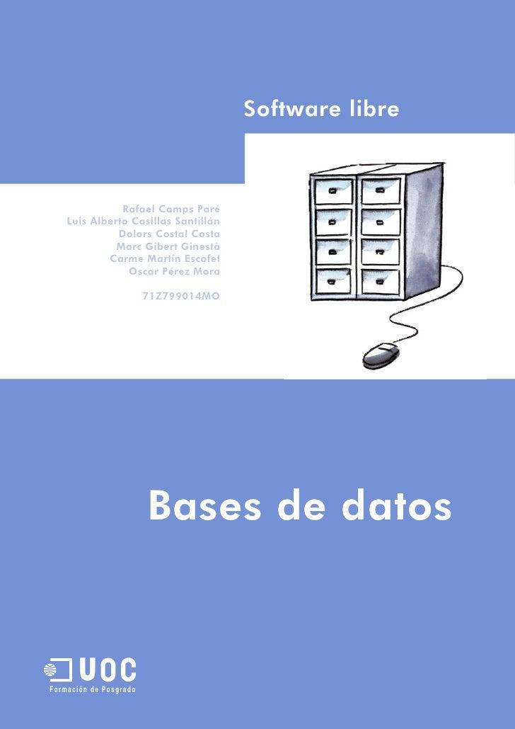 Base Datos en MySql