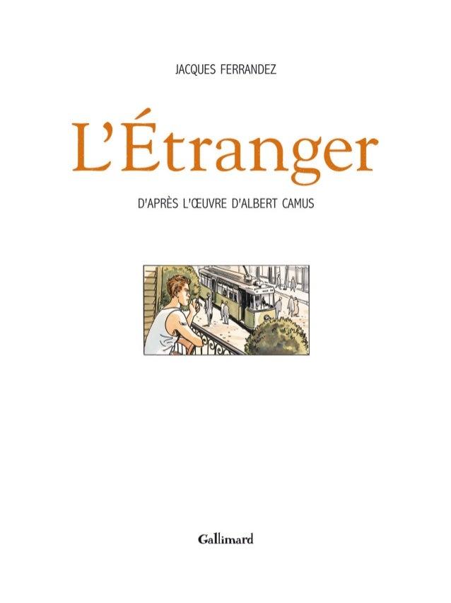 Bd - L'étranger