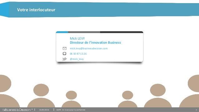 Présentation GDPR - Business & Decision Slide 2