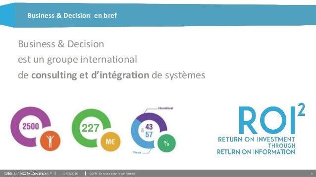 Présentation GDPR - Business & Decision Slide 3