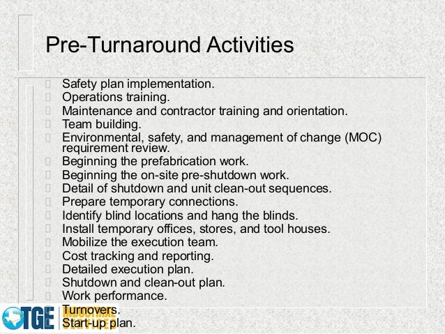 Why Turnarounds Fail Best Practices