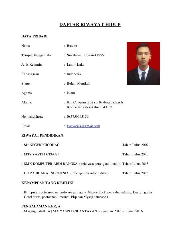 CV dan Lampiran