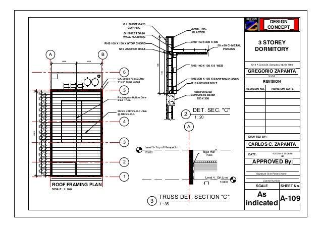 1214 A Carola Sheet A 109 Roof Framing Plan
