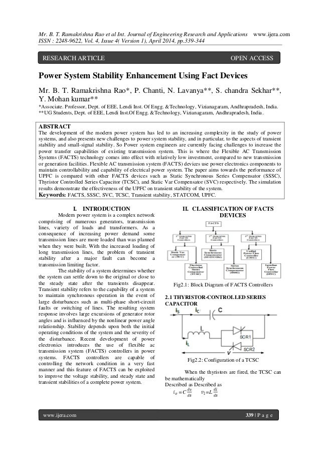 Mr. B. T. Ramakrishna Rao et al Int. Journal of Engineering Research and Applications www.ijera.com ISSN : 2248-9622, Vol....
