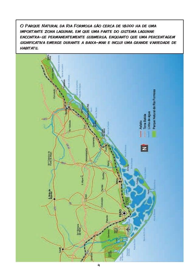 4 O Parque Natural da Ria Formosa são cerca de 18.000 ha de uma importante zona lagunar, em que uma parte do sistema lagun...
