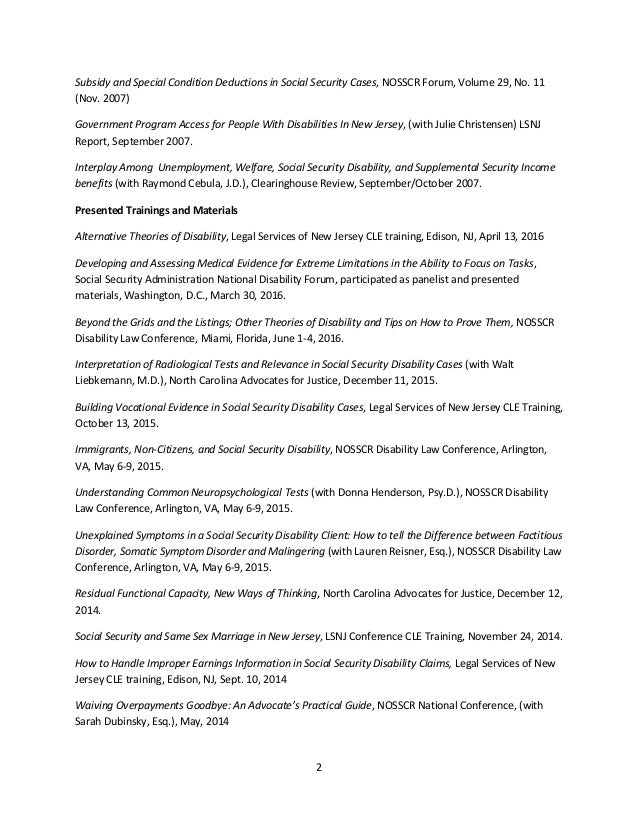 Kevin Liebkemann List of Publications and Trainings 2016 on social security administration flow chart, disability benefits letter, social security online forms, ssa benefit letter, supplemental security income benefit letter, social security benefit amounts, social security administration main office, social security administration forms, social security monthly benefit statement,