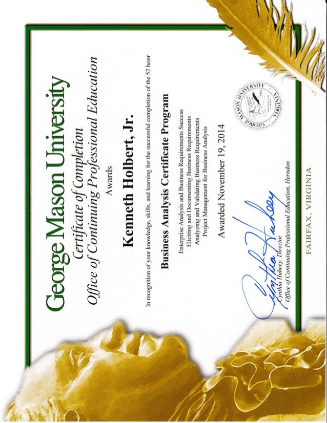 GMU Business Analyst Certificate KH-landscape