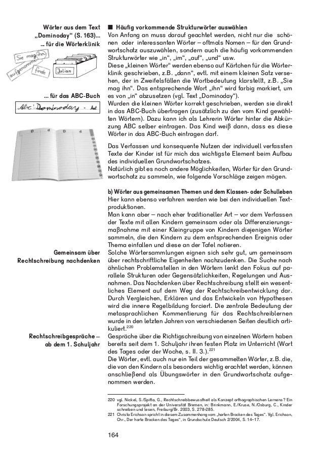 """Wörter aus dem Text  """"Dominoday"""" (S. 163)...  ... für die Wörterklinik  ... für das ABC-Buch   Häufig vorkommende Struktur..."""