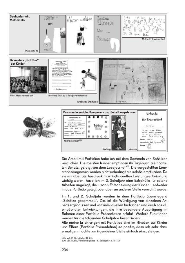 Mathe-Entdecker-Heft  Dokumente sozialer Kompetenz und Selbstkompetenzen  Verstärkerplan306  Vortrag  Die Arbeit mit Portf...