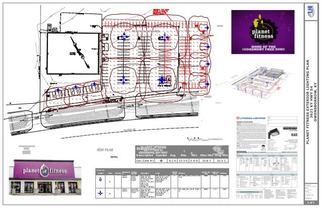 Planet Fitness Parking Lot Lighting Plan