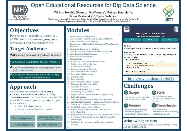 § How	   to	   scope	   generic	    curricula	   for	   different	    levels	   of	   users	    Open Educational Resource...