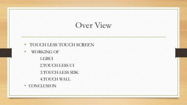 Touchless Technology Slide 2
