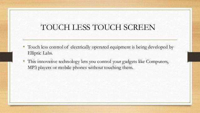 Touchless Technology Slide 3